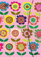 magneto-agenda 2014 flowers 16x21cm-4002725763440