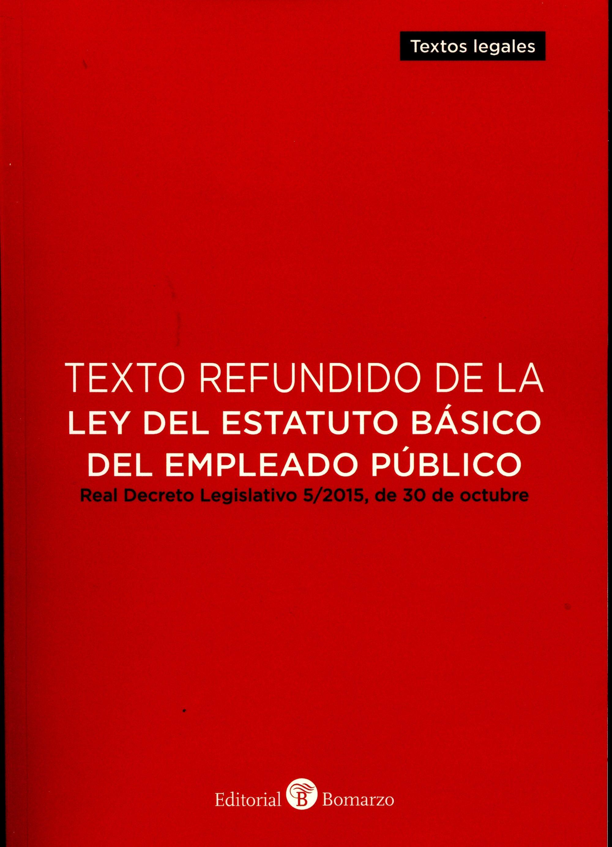 texto refundido de la ley del estatuto basico del empleado público-9788416608102