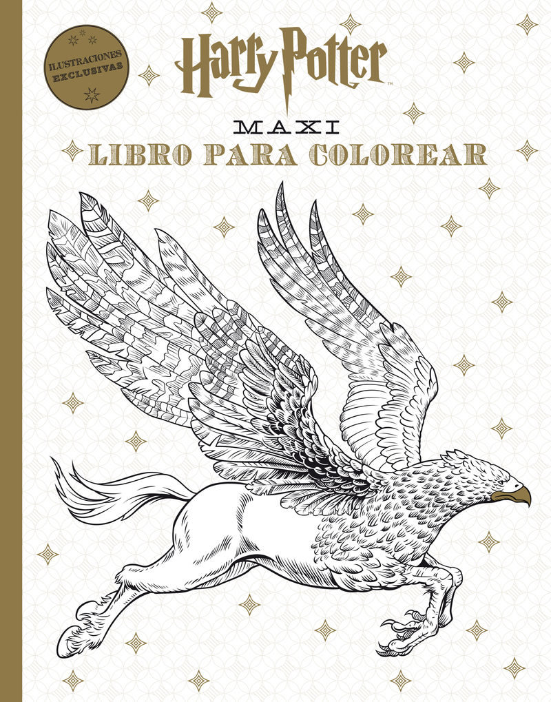 harry potter maxi libro para colorear-9788868219512