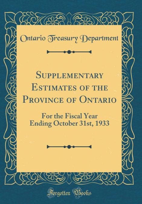 Mejor Foro Para Bajar Gratis Supplementary Estimates Of The Province Of Ontario [Descargar Gratis En Holanda PDF]