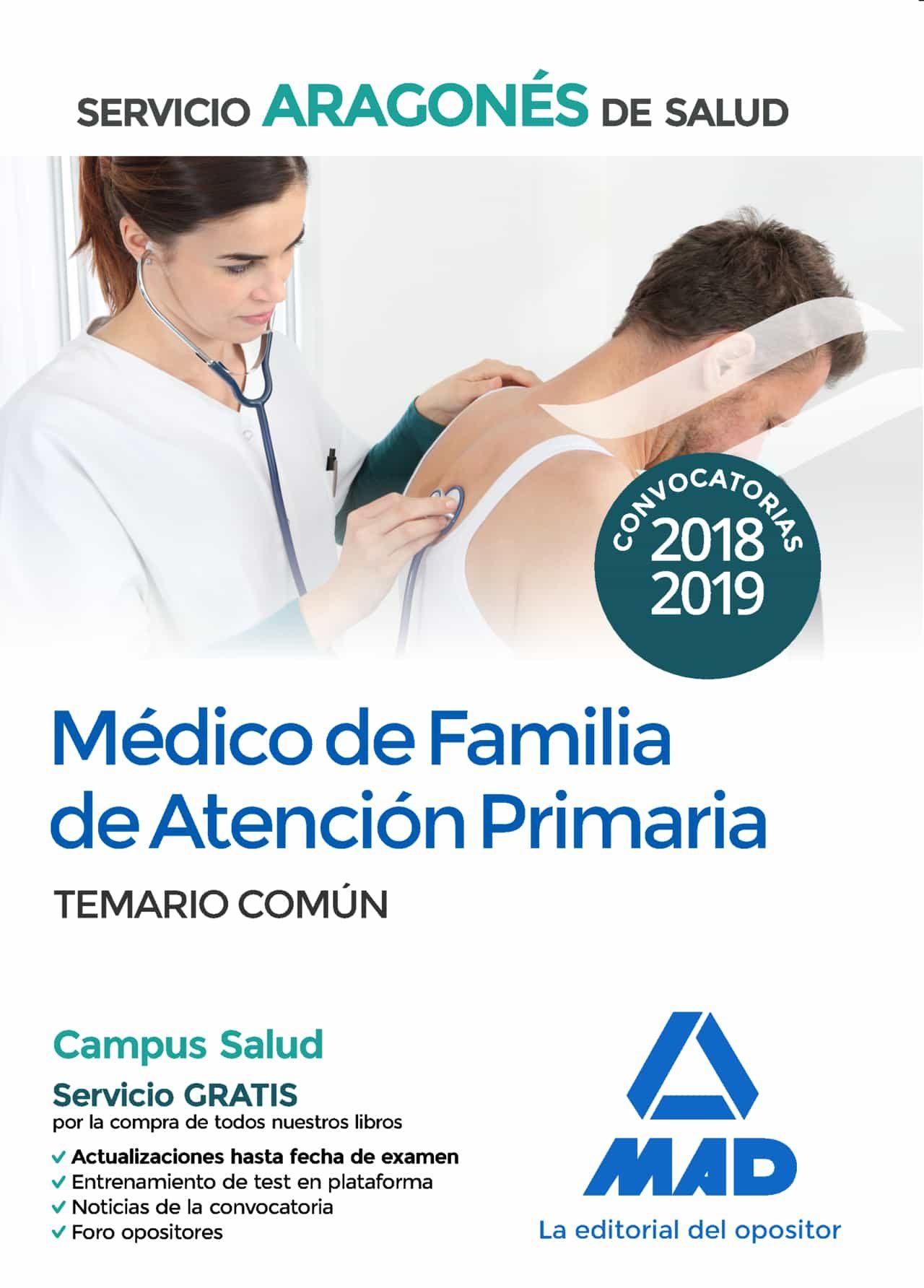 Médico De Familia De Atención Primaria Del Servicio Aragonés De Salud: Temario Comun por Vv.aa.
