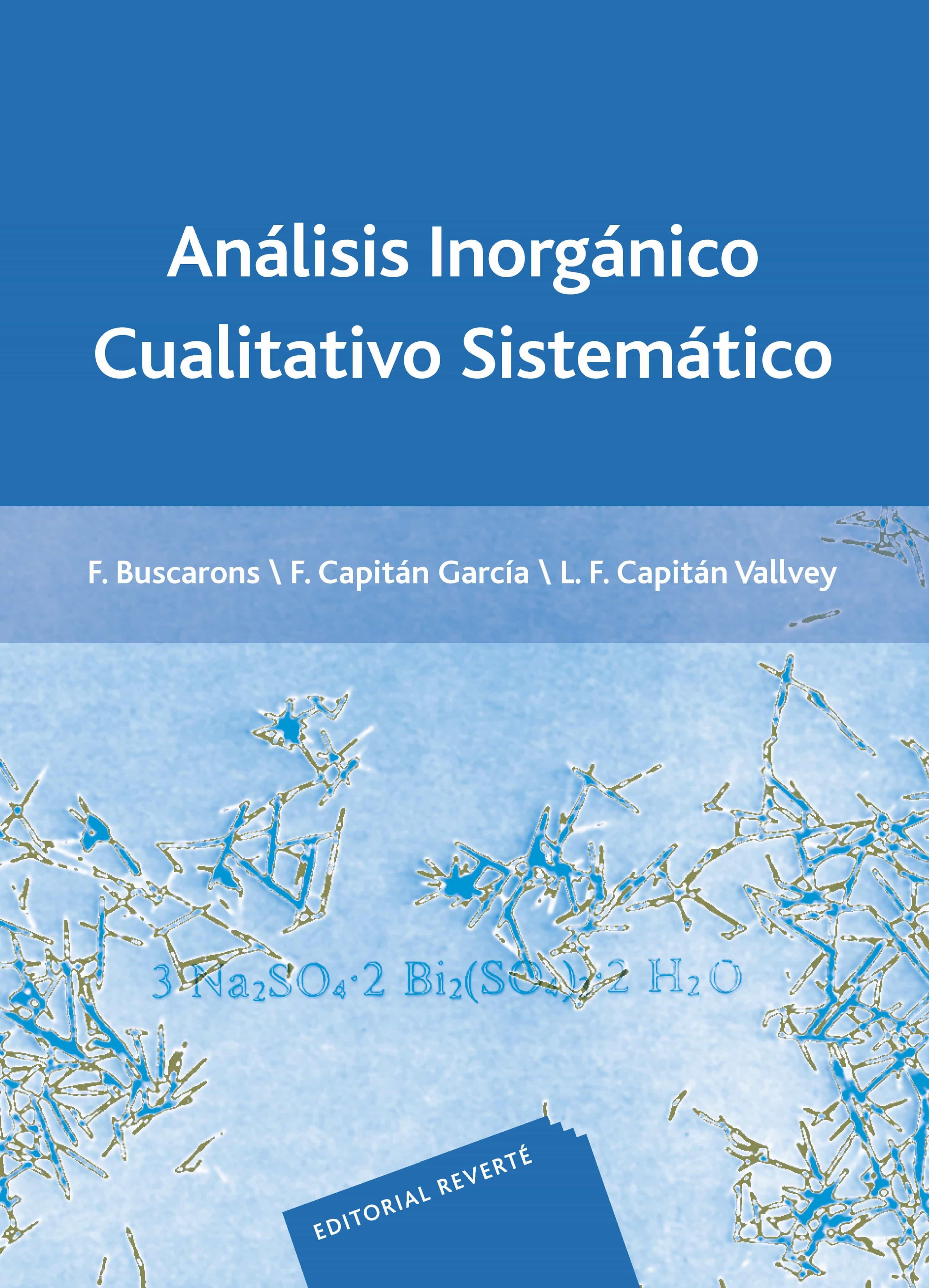 analisis inorganico cualitativo sistematico-9788429170832