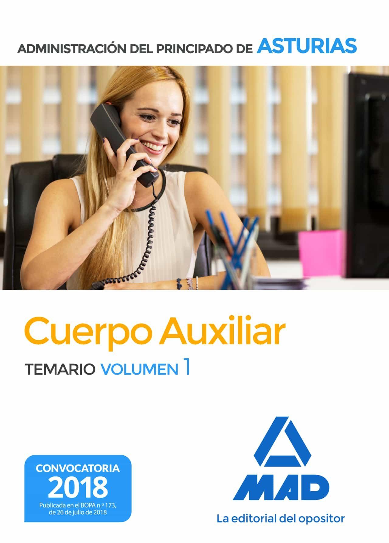 Cuerpo  Auxiliar De La Administración Del Principado De Asturias. Temario Volume  1 por Vv.aa.