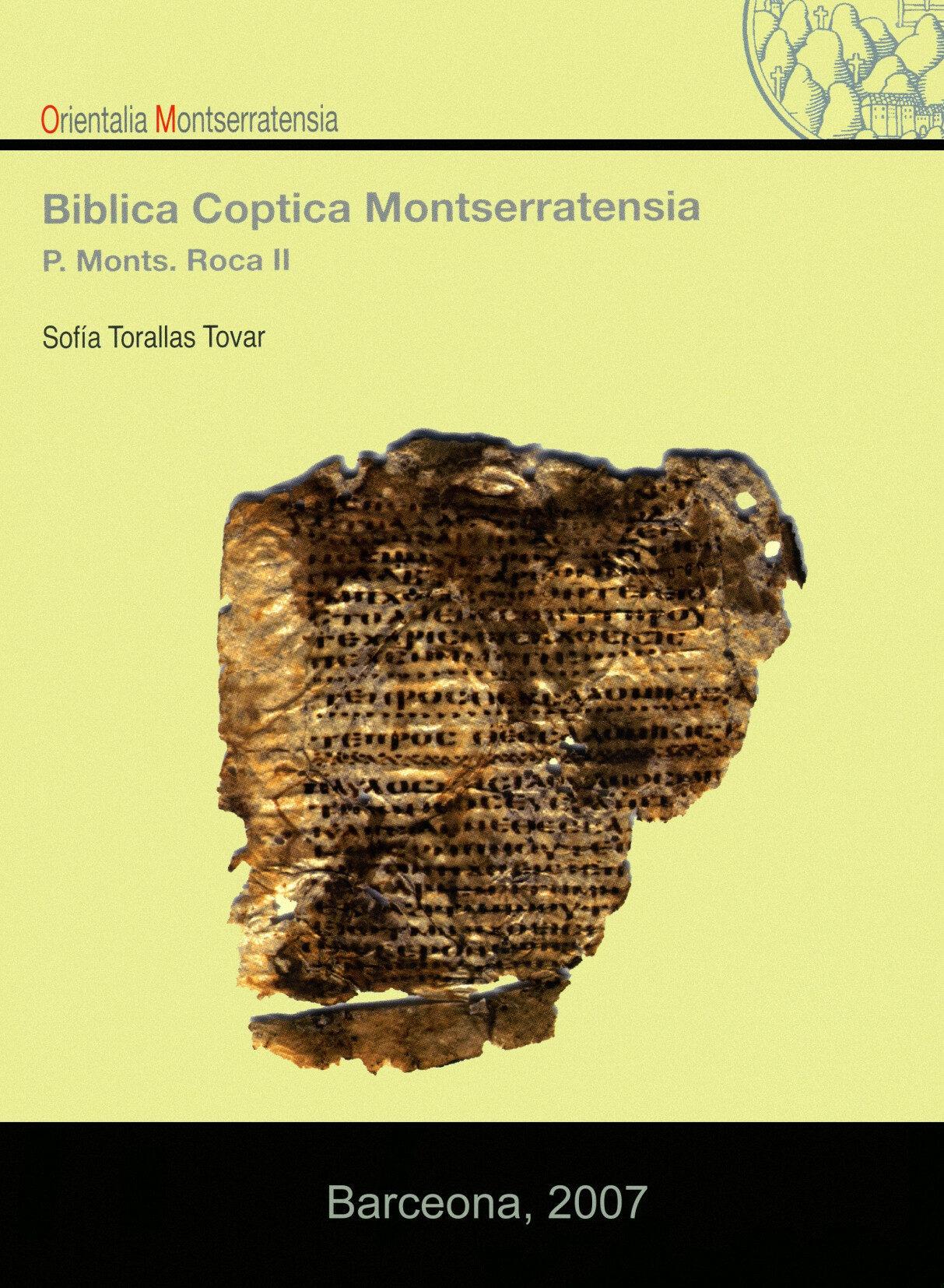 Biblia Coptica Montserratensia por Sofia Torallas Tovar epub