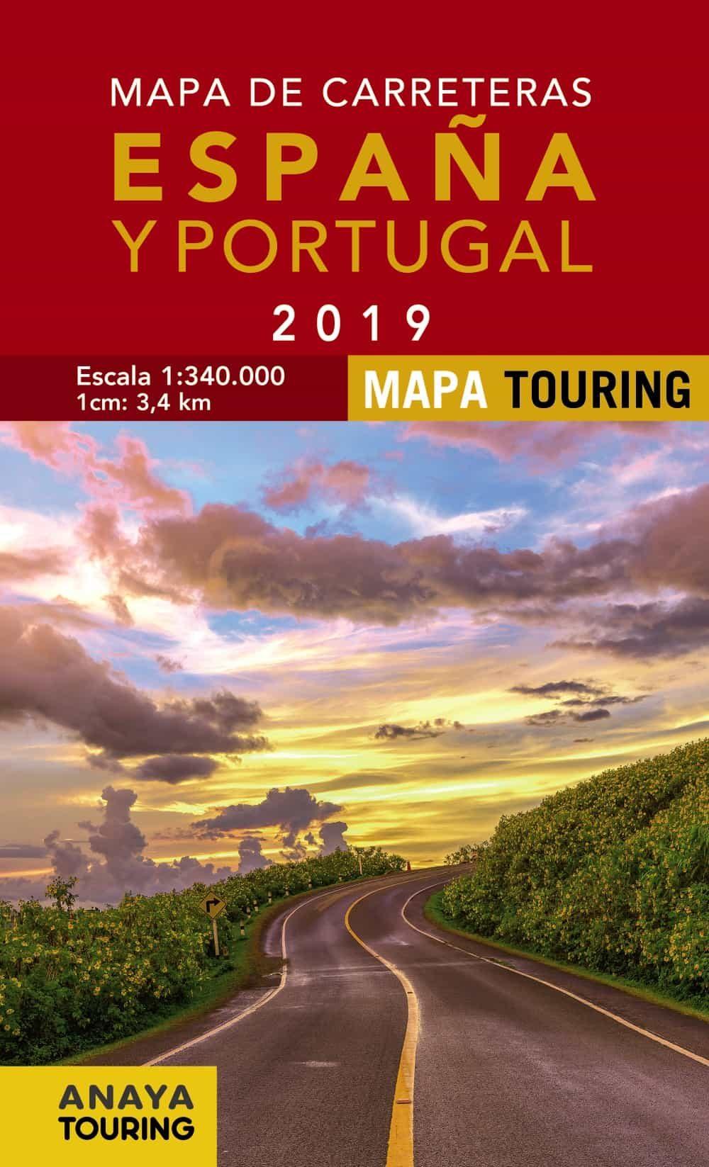 Mapa De Carreteras De España Y Portugal 2019 (1:340000)(13ª Ed.) por Vv.aa.