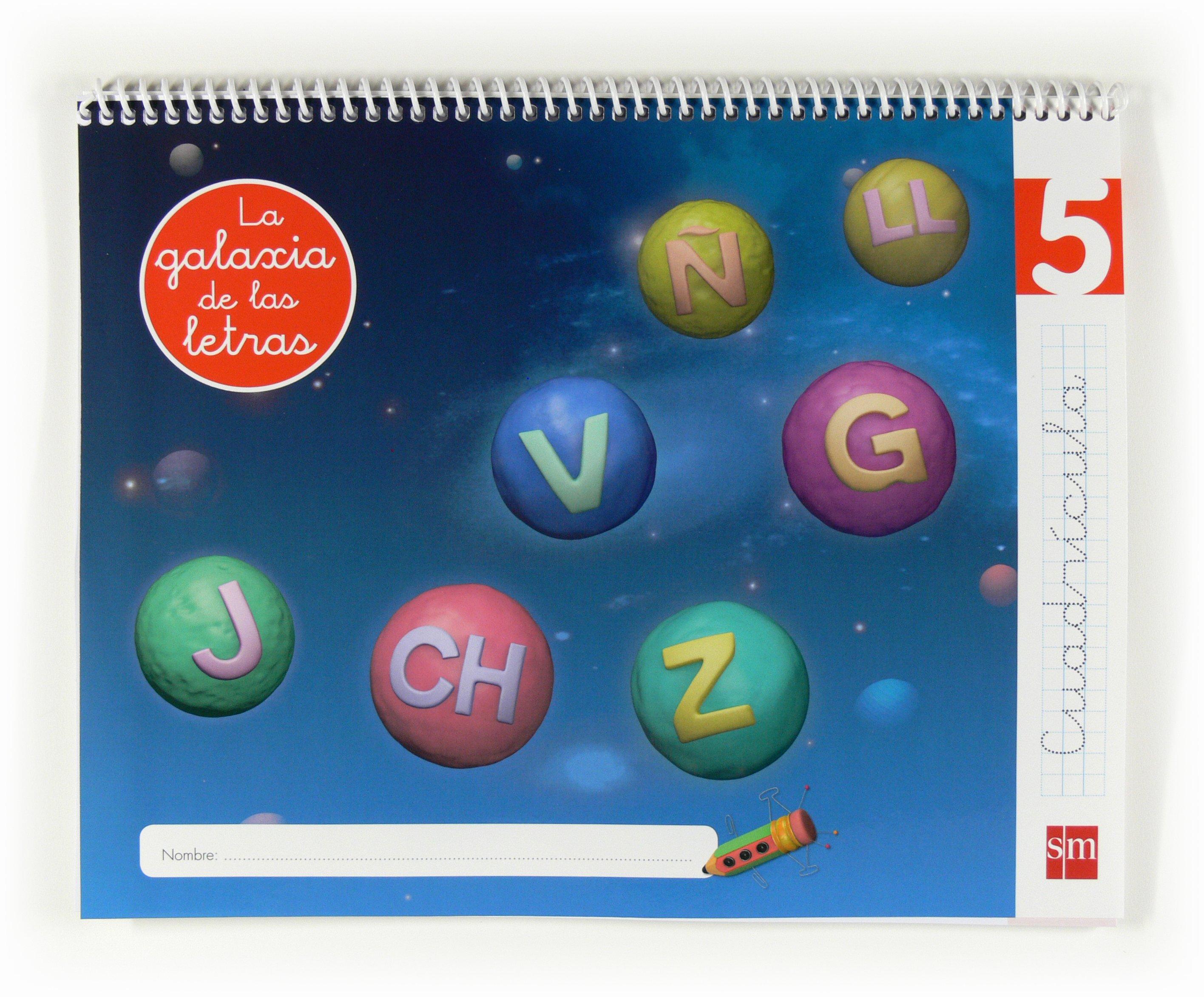 lectoescritura la galaxia de las letras 5 años nivel 5 cuadricula educacion infantil-9788467554762