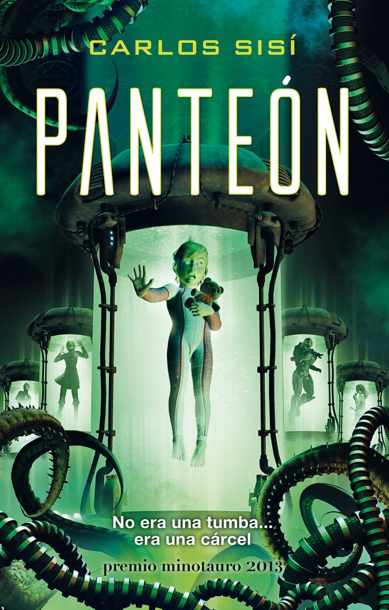 portada del libro de ciencia ficción Panteón, de Carlos Sisí