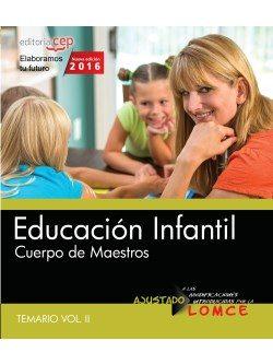 cuerpo de maestros. educación infantil. temario. vol.ii-9788468167572