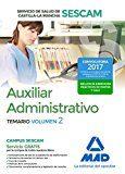 auxiliar administrativo del servicio de salud de castilla-la mancha (sescam). temario volumen 2-9788414204092