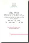 Diez Años De Jurisprudencia De La Audiencia Nacional En Materia D E De Derecho De La Competencia (3 Vol.) por Juan Manuel Fernandez Lopez epub