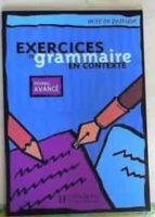 exercices de grammaire en contexte (niveau avance) anne akyuz 9782011551702