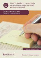 análisis y control de la desviación presupuestaria del producto gráfico. argn0109 (ebook) 9788417343002