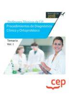 cuerpo de profesores técnicos de f.p. procedimientos de diagnóstico clínico y ortoprotésico temario volumen i 9788417625702