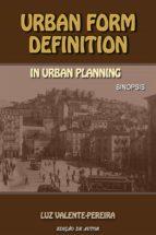 URBAN FORM DEFINITION IN URBAN PLANNING