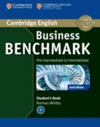 business benchmark (2nd edition) pre-intermediate to intermadiate . bulats student´s book-guy brook-hart-norman whitby-9781107697812