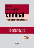 ley de enjuiciamiento criminal y legislacion complementaria (35ª ed.) victor moreno catena 9788430975112