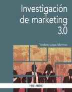 investigación de marketing 3.0 (ebook)-teodoro luque martinez-9788436838312