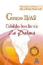 GRUPO II/A2 DEL CABILDO INSULAR DE LA PALMA. TEMARIO Y TEST DE LA PARTE GENERAL