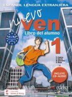 nuevo ven 1. libro del alumno (incluye cd)-9788477118312