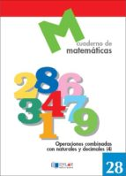cuaderno de matematicas, n. 28 9788489655812