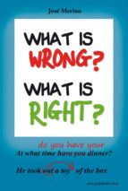 what is wrong? what is right?-jose merino-9788494245312