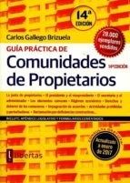 guía práctica de comunidad de propietarios carlos gallego brizuela 9788494593512