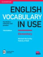 english vocabulary in use (3rd edition) elementary book with answers & enhanced ebook 9781316631522