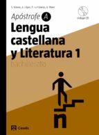 lengua y literatura castellana 1. apostrofe a (1º bachillerato) 9788421840122
