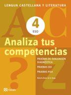 analiza tus competencias 4 eso. lengua castellana y literatura 9788421853122