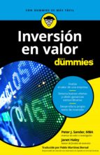 inversion en valor para dummies-peter j. sander-janet haley-9788432903922