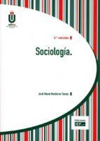 sociología-jordi manel monferrer tomas-9788445435922