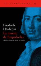 la muerte de empedocles-friedrich holderlin-9788495359322