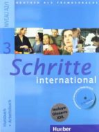 schritte international 3:  kursbuch + arbeitsbuch (niveau a2/1) ( mit arbeitsbuch cd und interaktiven ubungen fur den pc + glosariol: deutsch spanisch/aleman español 9783194018532