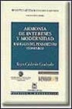 armonia de intereses y modernidad-reyes calderon-9788447009732