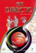 en directo elemental alumno + cd audio aquilino sanchez 9788497781732