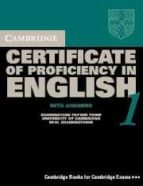 cambridge certificate of proficiency in english 1: with answers s elf study (new revised exam dec 2002) 9780521799942