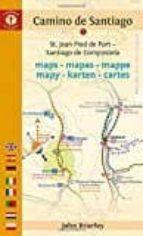 camino de santiago maps - mapas - mappe - mapy - karten - cartes-john brierley-9781844097142