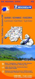 mapa regional suisse sud ouest/ schweiz sud west/ svizzera sud.ou est (leyenda en español) (2013) 9782067183742