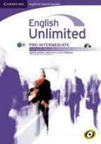 english unlimited pre-intermediate self-study pack (workbook with dvd-rom and audio cd) spanish ed.-9788483237342