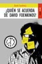 ¿quien se acuerda de david foenkinos?-david foenkinos-9788489624542