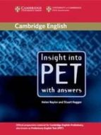 insight into pet with answers-helen naylor-stuart hagger-9780521527552