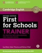 firsts for schools trainer second edition book with answers and teachers notes with audio 9781107446052