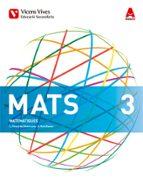 El libro de Matematiques 3º eso academiques.aula 3d.bach ed 2015 catalan autor VV.AA. DOC!