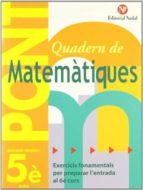 quadern pont matematiques 5 primaria 9788478874552