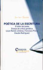 poetica de la escritura: el taller del poeta. ensayo de critica g enetica (juan ramon jimenez, francisco pino y claudio rodriguez) javier blasco 9788484486152