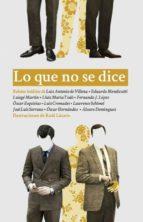 lo que no se dice: antologia española de cuentos procaces 9788494241352