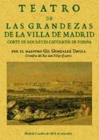 libro primero de las grandezas de la villa de madrid (reprod. fac simil de la ed. de madrid, 1623) gil gonzalez davila 9788497610452
