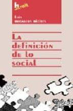 la definicion de lo social luis recasens siches 9789507246852
