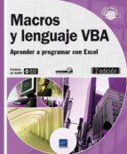 macros y lenguaje vba   aprender a programar con excel (2ª ed.) frederic le guen 9782746085862