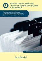 (i.b.d.)gestion auxiliar de archivo en soporte convencional o informaticos adgg0508-operaciones de grabacion y tratamiento de  datos y documentos-francisco javier cruz jimenez-9788415648062